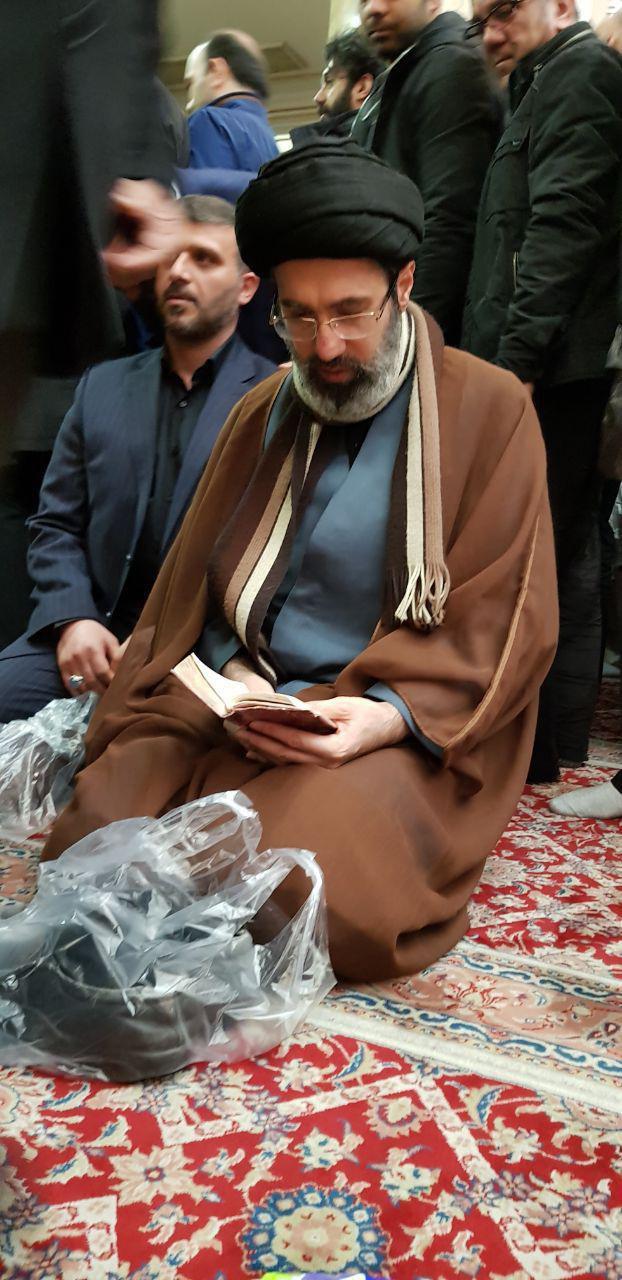 مراسم ختم فرزند احمد توکلی برگزار شد/ حضور چهرهای سیاسی از لاریجانی تا بهزاد نبوی