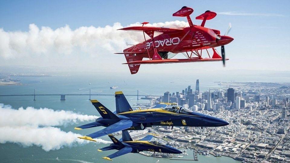 نمایش دیدنی هواپیماها در هفته ناوگان هوایی آمریکا