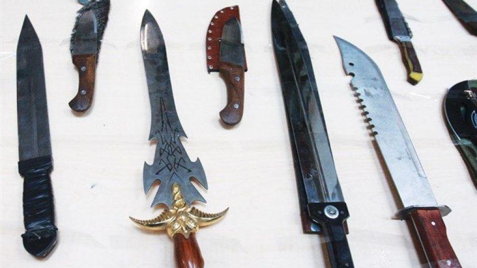 عکس درگیری چاقو