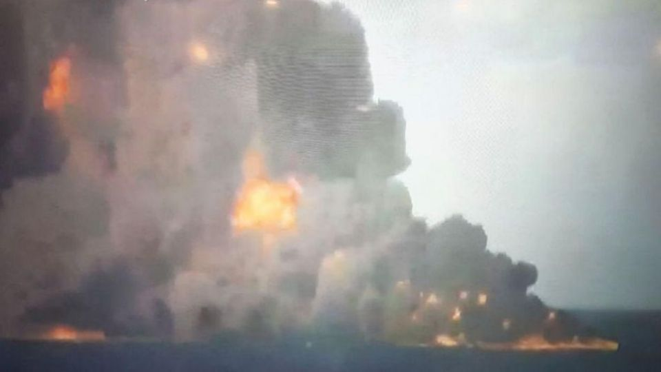 نفتکش سانچی نفتکش ایرانی شرکت ملی نفت تصادف کشتی اخبار مهم شرکت کشتیرانی