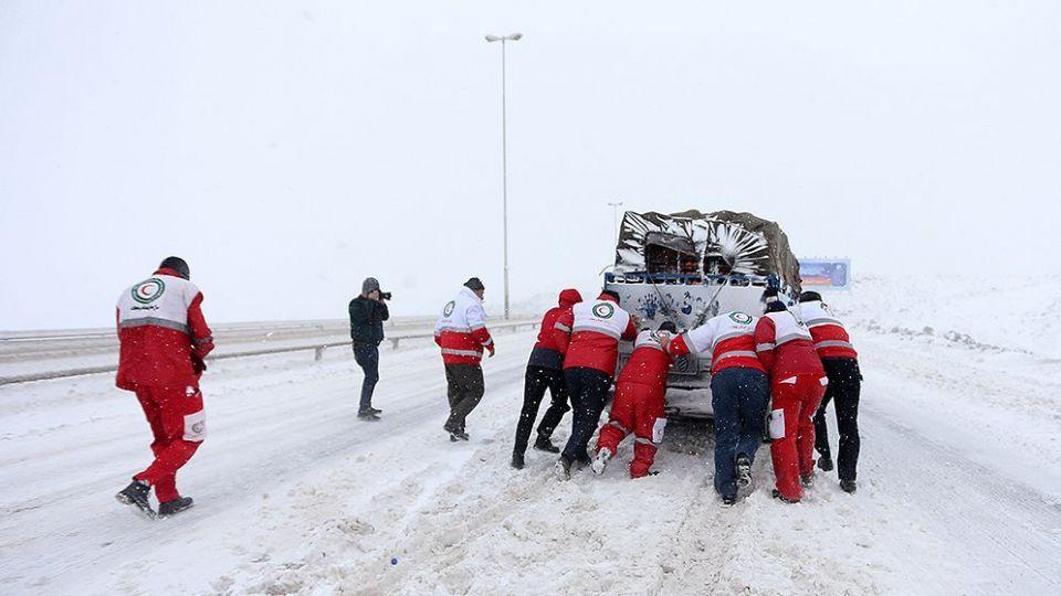 وضعیت آزادراه تهران - قم پس از بارش برف