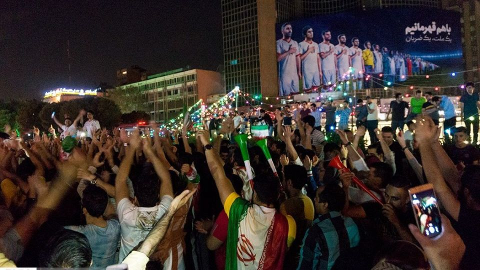 Image result for جشن مردم بعد از برد از مراکش