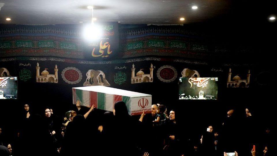 عزاداری شب هشتم محرم در هیئت انصارالمهدی