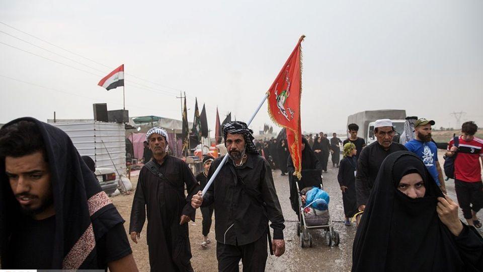 پیاده روی اربعین در ناصریه عراق