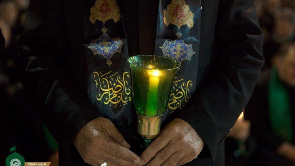 مراسم خطبهخوانی شب شهادت امام رضا(ع) در حرم آن حضرت