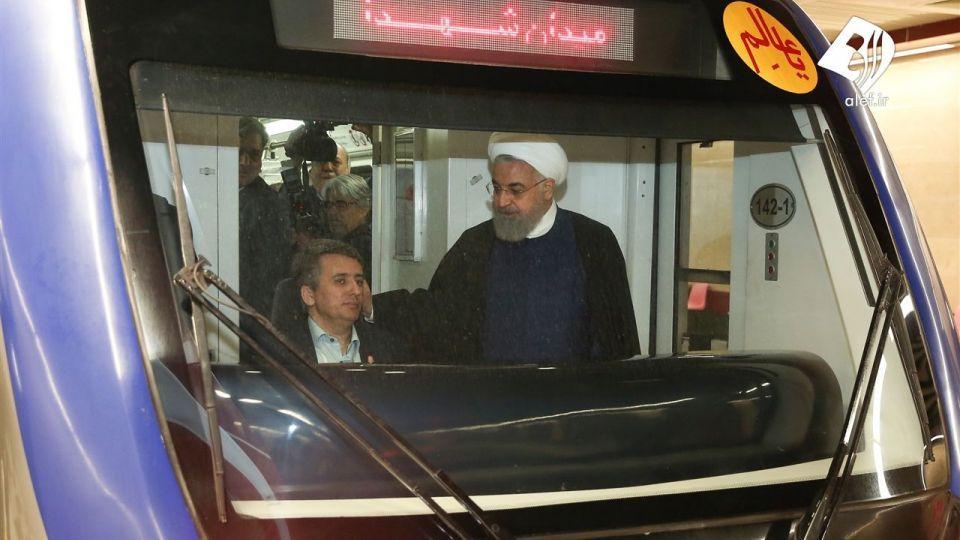 افتتاح خط شش مترو تهران با حضور رئیس جمهور
