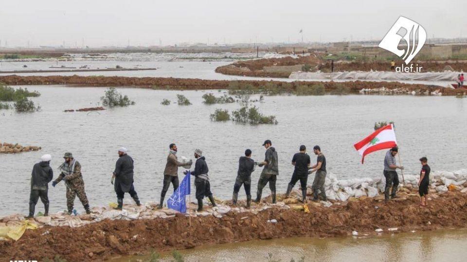 حضور جوانان لبنانی در امدادرسانی به مناطق سیلزده خوزستان - 2