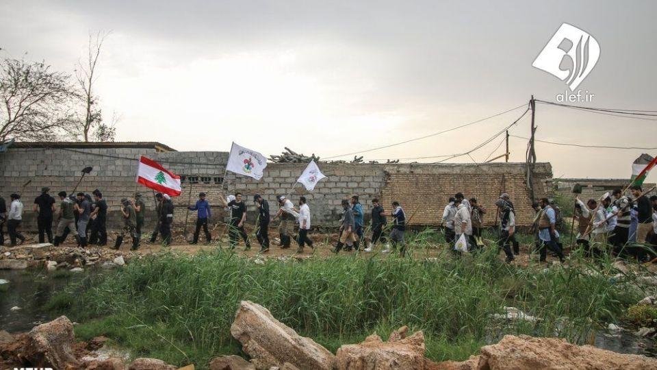 حضور جوانان لبنانی در امدادرسانی به مناطق سیلزده خوزستان - 10