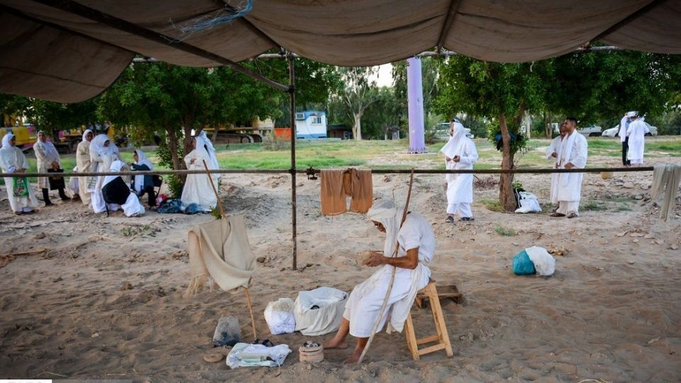 مراسم غسل تعمید مندائیان در رود کارون