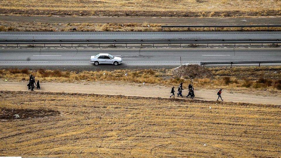 تصاویر هوایی از زائران پیاده امام رضا(ع)