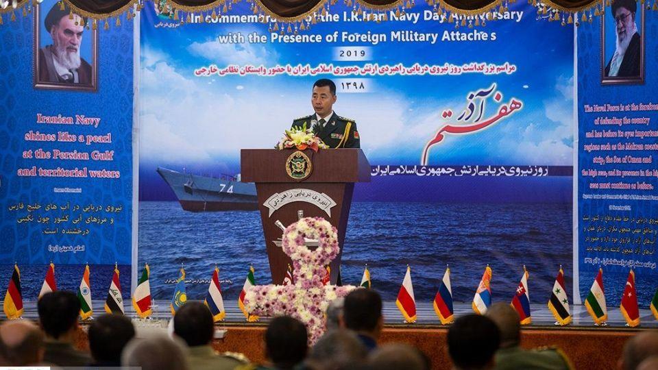 دیدار وابستگان نظامی خارجی مقیم تهران با فرمانده نیروی دریایی ارتش
