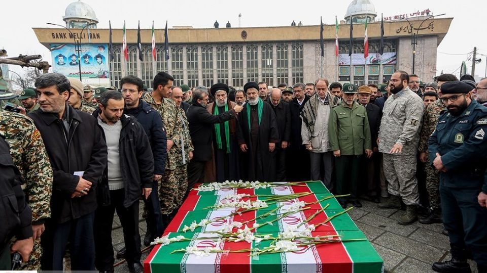 تشييع پيكر شهدای سانحه هواپيمای اوكراینی در همدان