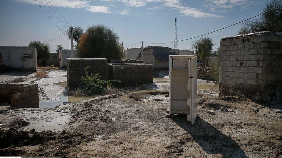 خسارت سیل در روستای عورکیِ سیستان و بلوچستان