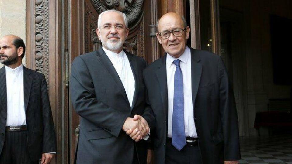 ظریف در دیدار لودریان: مسیر صحیح اروپا انجام تعهدات برجام است