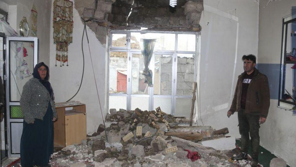 خسارتهای زلزله در بخش قطور خوی