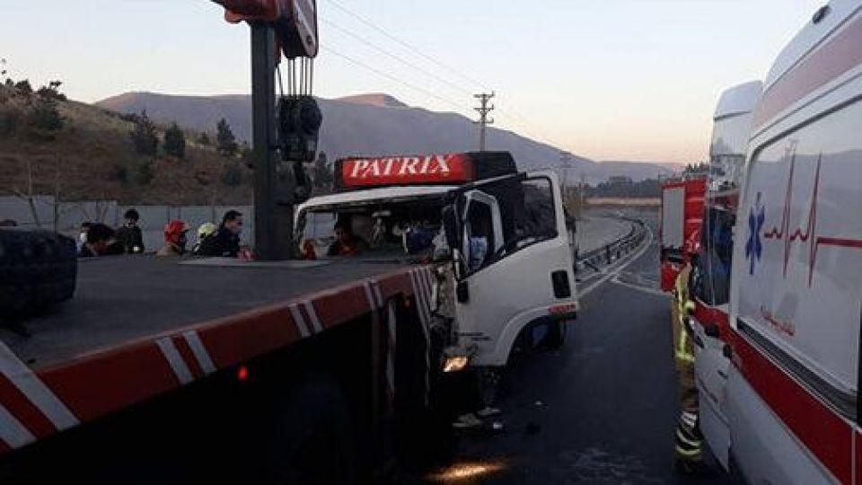 واژگونی مرگبار اتوبوس در محدوده هشتگرد