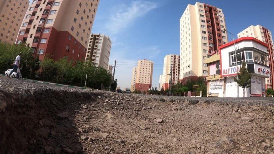 چاله های خطرناک خیابان های پرند