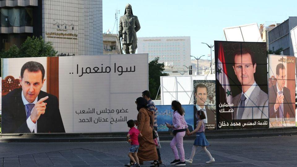تبلیغات انتخابات ریاست جمهوری سوریه