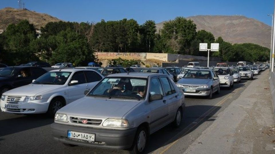 ترافیک جاده چالوس در روز آخر تابستان