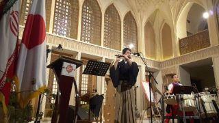 مراسم روز فرهنگی ژاپن در هتل عامریهای کاشان برگزار شد نوای ای ایران با سازهای سنتی ژاپن / فرهنگ ژاپنی در هتل قاجاری