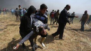 مراسم انتقال سفارت آمریکا به قدس/ حمله وحشیانه صهیونیستها به سمت فلسطینیان؛ 52 فلسطینی شهید و حدود ۲۰۰۰ نفر مجروح شدند/ ترامپ: امروز روزی بزرگ برای اسرائیل است + عکس