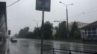 بارندگی شدید در کازان قبل از بازی ایران و اسپانیا